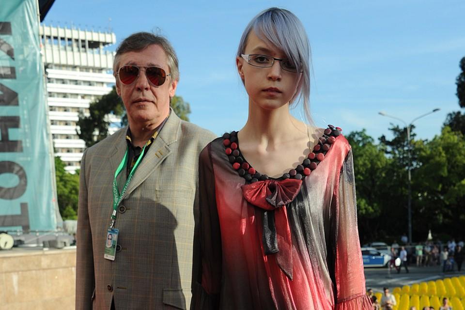 Актер Михаил Ефремов с дочерью Анной-Марией