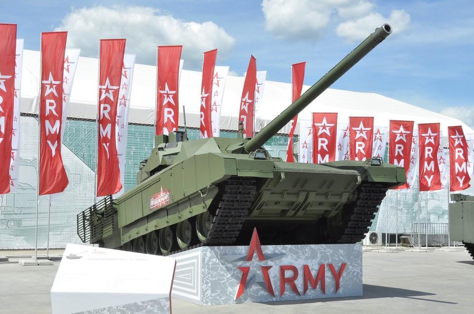 """Танк Т-14 """"Армата""""на международном военно-техническом форуме (МВТФ) """"Армия-2019"""" в парке """"Патриот"""""""