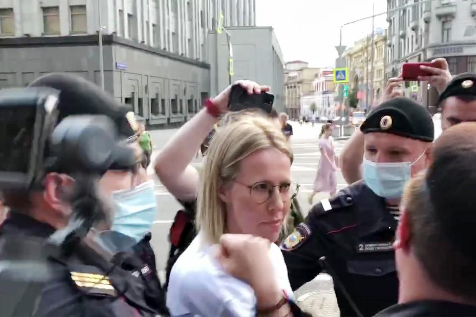 Ксения Собчак была задержана