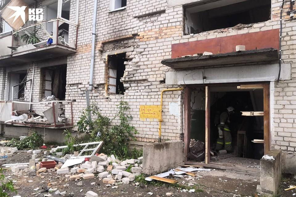 Перекрытие первого этажа обрушилось от взрыва. Фото: предоставлено очевидцем