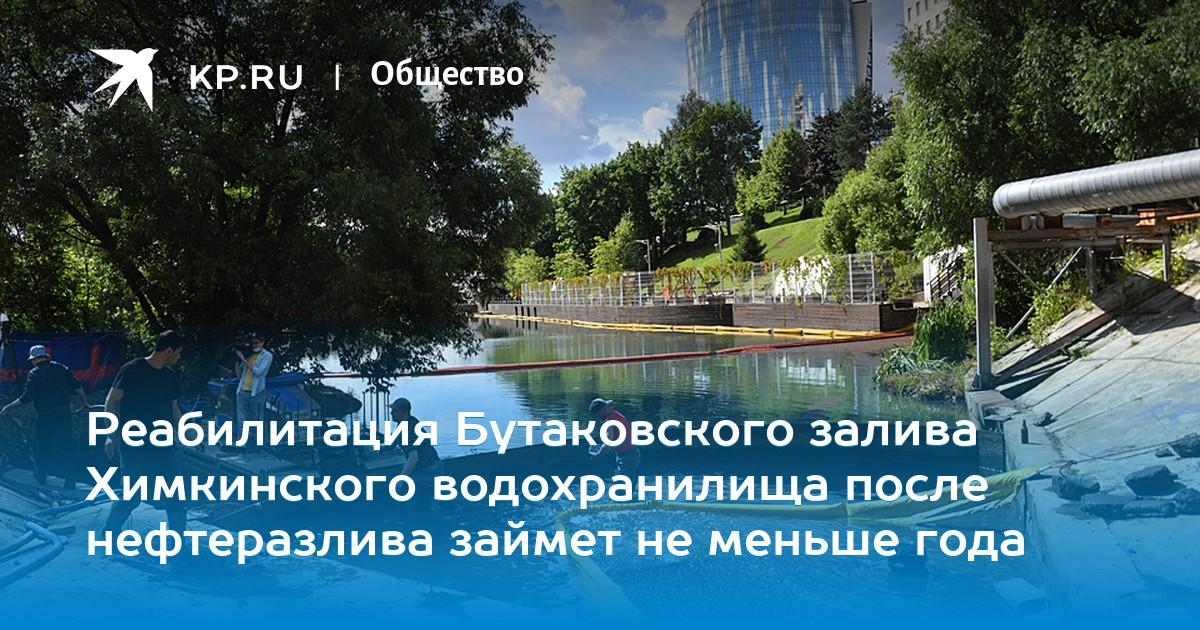 Реабилитация Бутаковского залива Химкинского водохранилища после нефтеразлива займет не меньше года