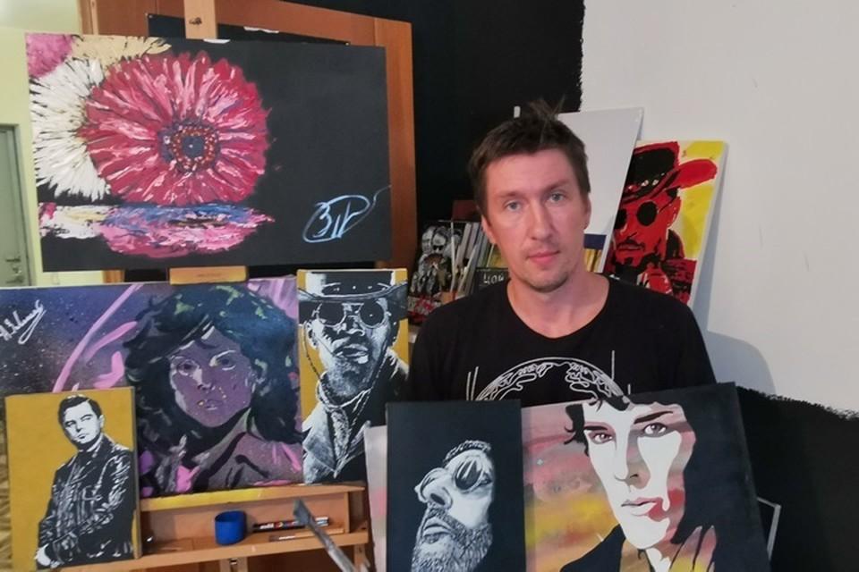 Алексей художественную школу не заканчивал, он - самоучка. Фото: из личного архива