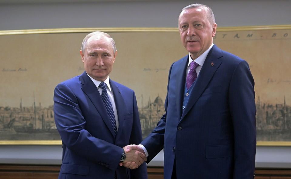 Владимир Путин и Рэджеп Эрдоган