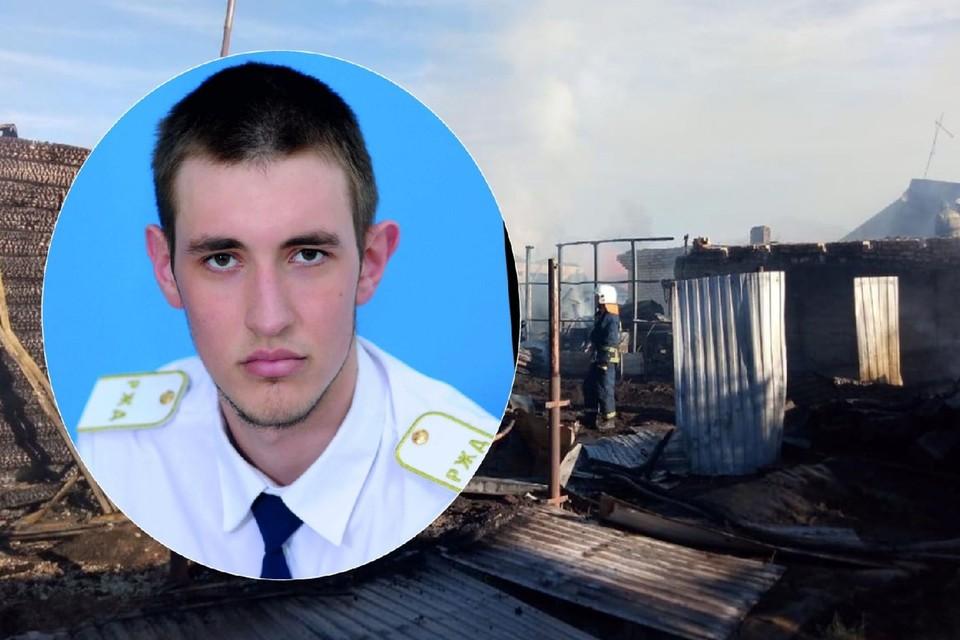 Когда дом горел, Иван спал на втором этаже. Фото: ГУ МЧС России по Новосибирской области/Социальные сети