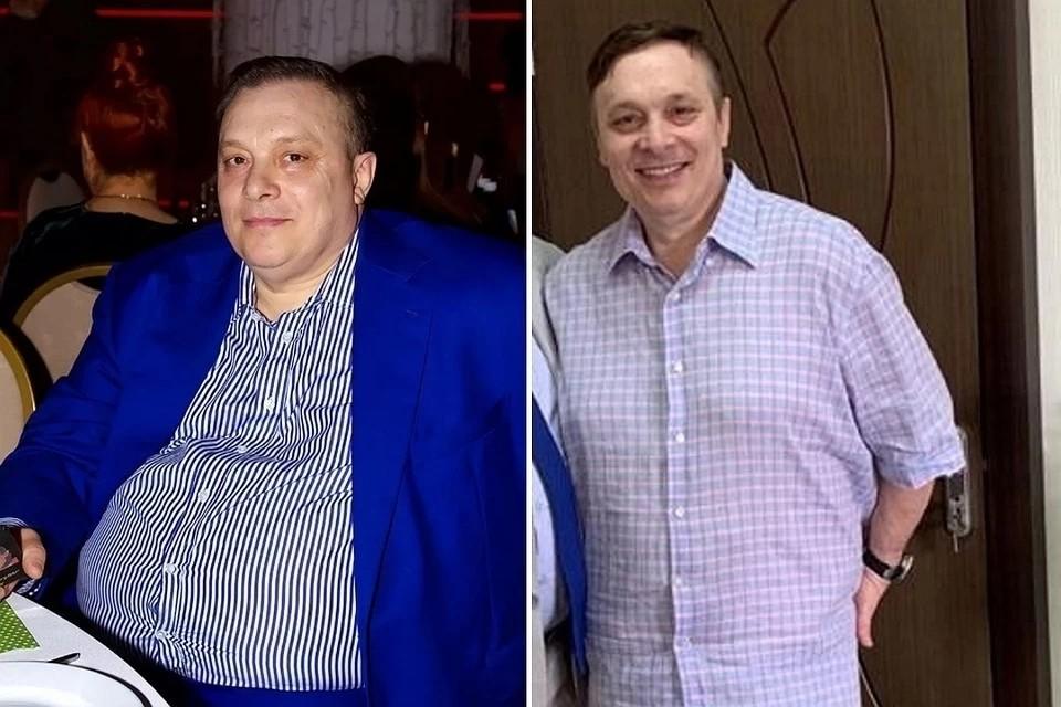 Андрей Разин до и после похудения. Фото: из личного архива продюсера