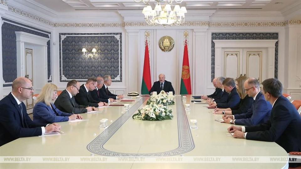 В правлении Нацбанка – новые руководители, которых назначил Лукашенко. Фото: БелТА