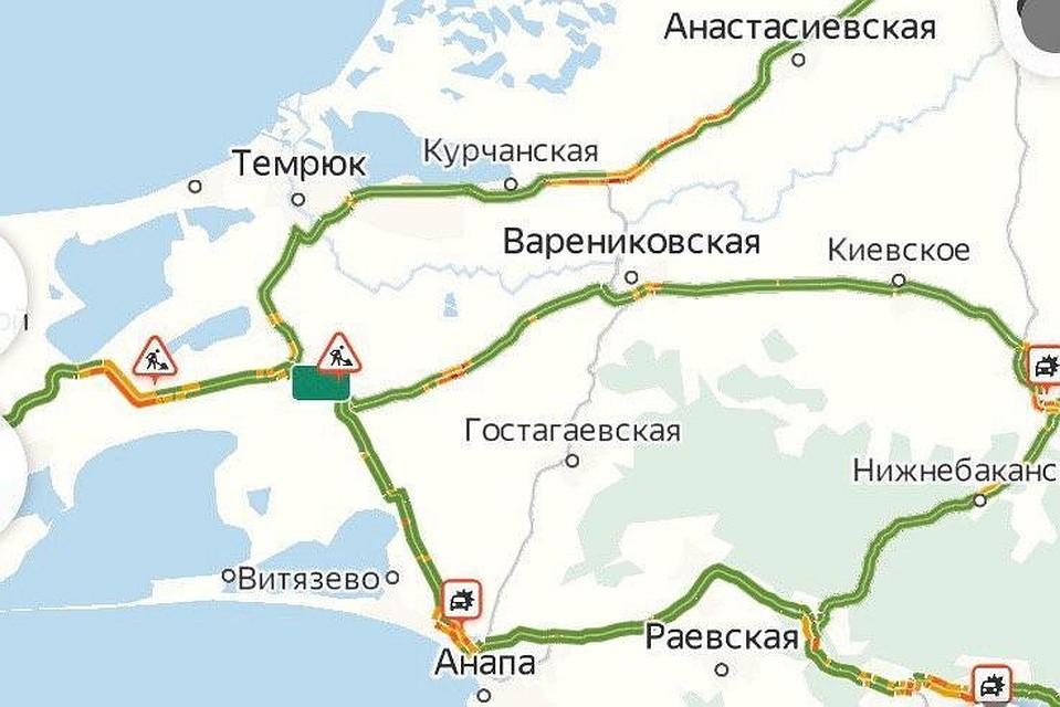 Пробки на дорогах к морю в Краснодарском крае 25 июля 2020: забита трасса к Крымскому мосту