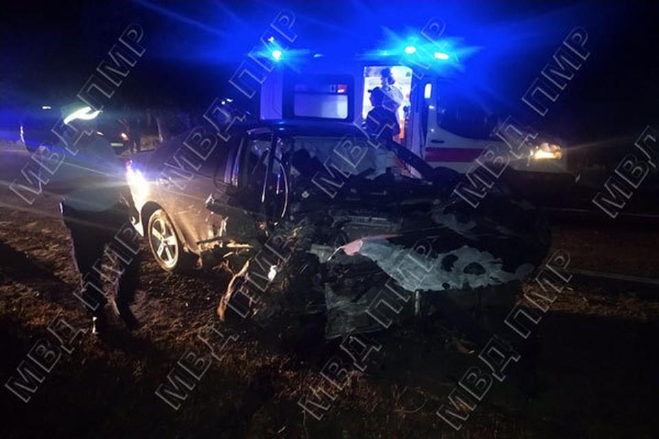 В аварии пострадали два человека (Фото: МВД Приднестровья).
