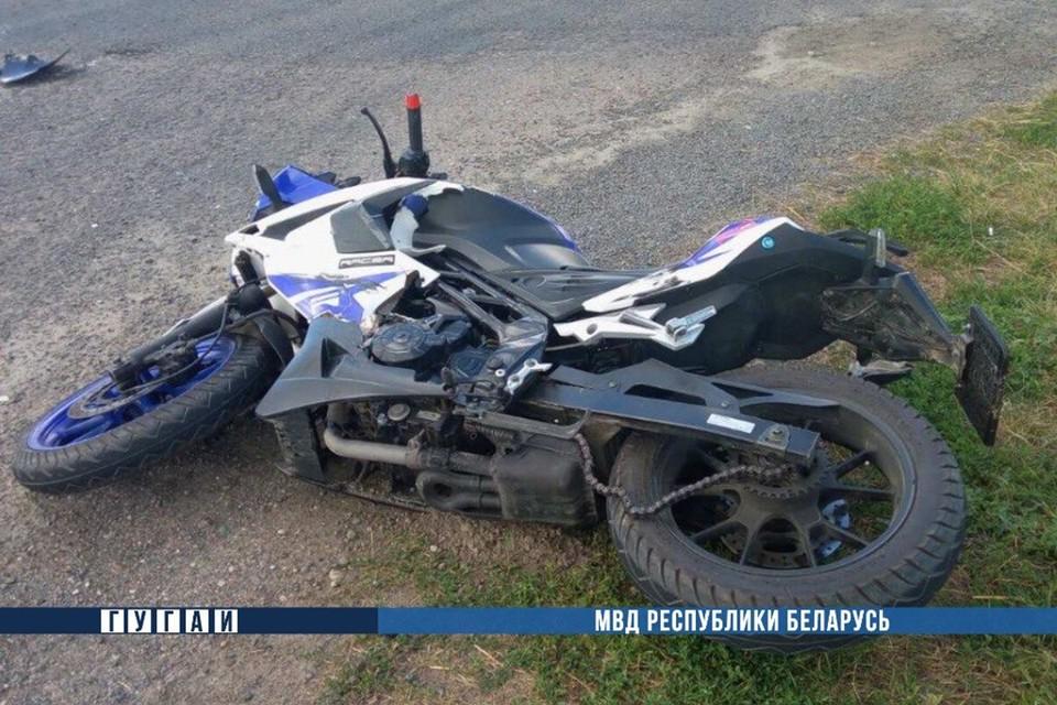 Мотоциклист и водитель мопеда попали в аварии в минувшие выходные. Фото: ГАИ.