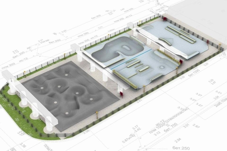 Под Коломяжским путепроводом появится скейт-парк и памп-трек. Фото: vk.com/tvbspb