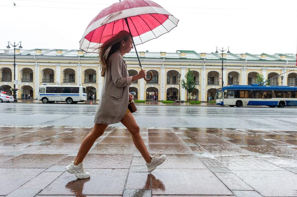 Со вторника, 11 августа, в Петербург вернутся дожди.