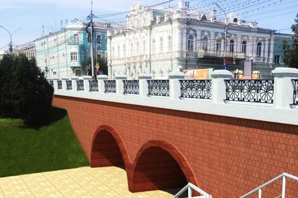 Так будет выглядеть мост после реконструкции.