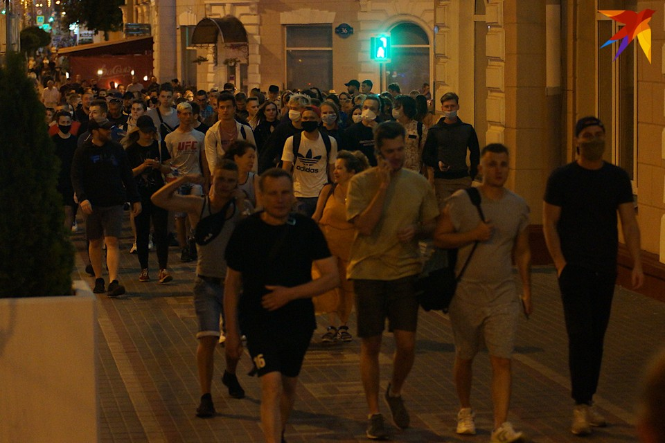В Гомеле на протест выходит, в основном, молодежь