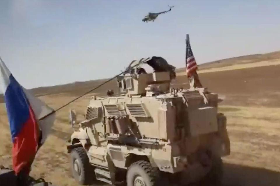 Уже не раз в Сирии случались стычки между российскими и американскими военными. Фото: скрин с видео t.me/RVvoenkor