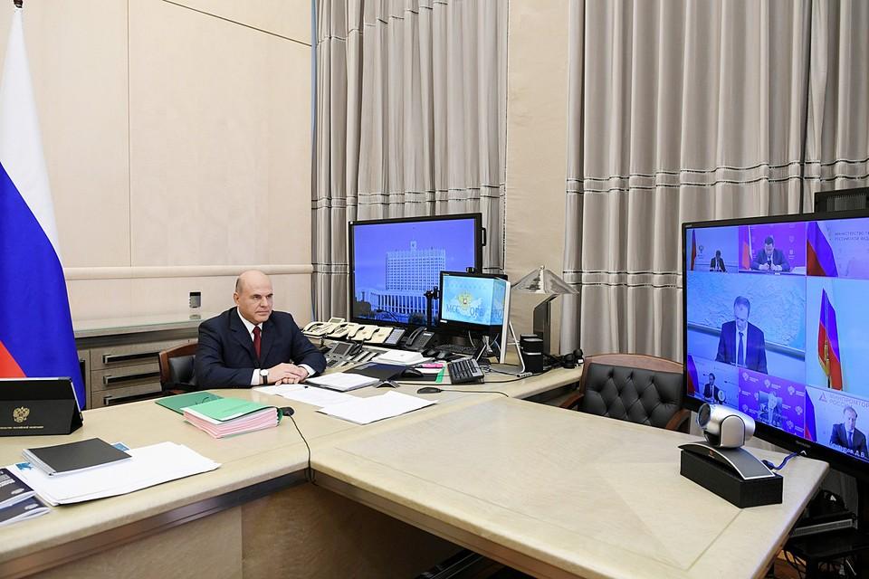 Михаил Мишустин на заседании правительства. Фото: Рамиль Ситдиков/POOL/ТАСС
