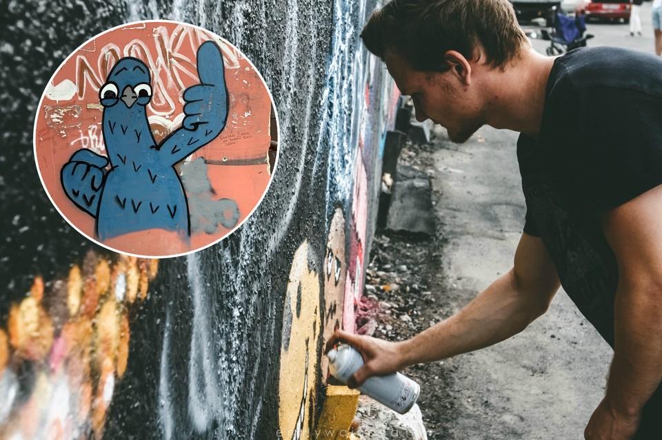 Андрей Востриков закрашивает номера наркодилеров забавными голубями. Так он борется с рекламой наркотиков и делает город ярче.