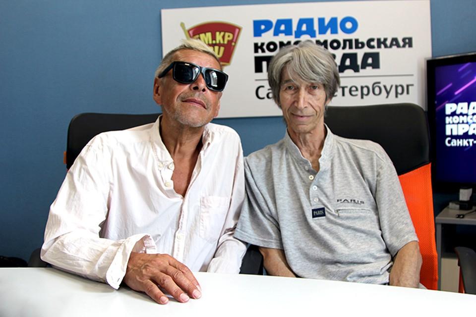 Александр Донских и Владимир Леви в студии радио «Комсомольская правда в Петербурге» на 92.0 FM