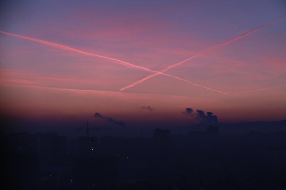 В воздухе Красноярска обнаружены загрязняющие вещества.