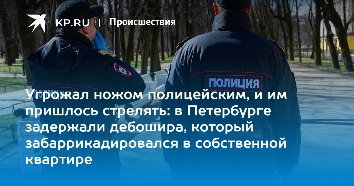Угрожал ножом полицейским, и им пришлось стрелять: в Петербурге задержали дебошира, который забаррикадировался в собственной квартире