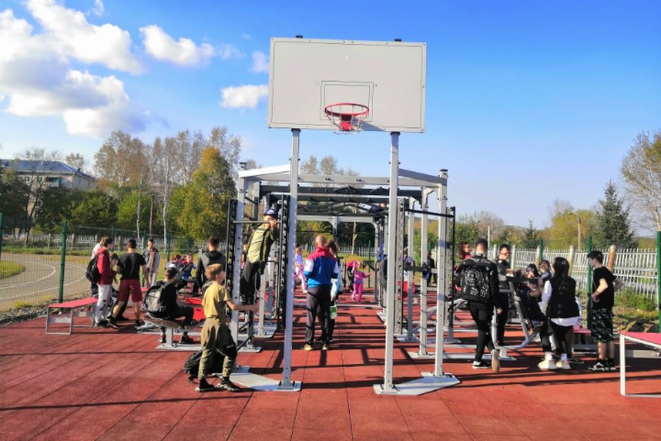 В Хабаровском крае открыли новую спортплощадку для сдачи норм ГТО