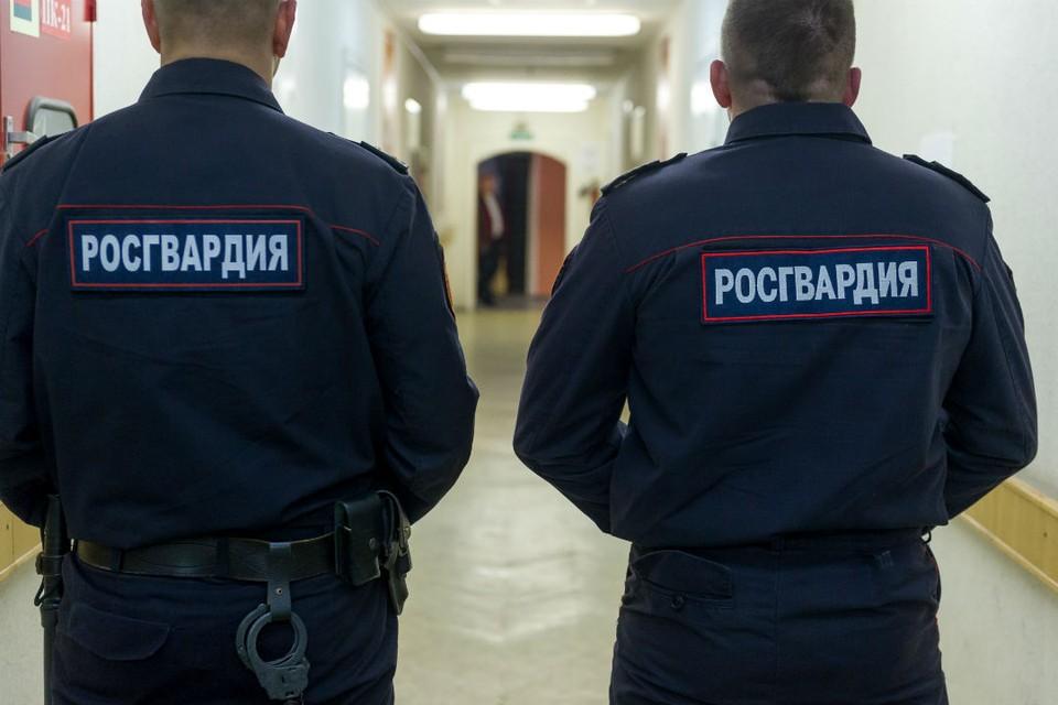 Сотрудники Росгвардии охраны доставили подозреваемого в полицию.