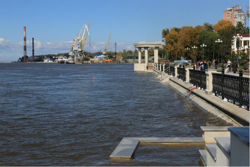 Паводок миновал Хабаровск, но часть территорий остаются подтопленными