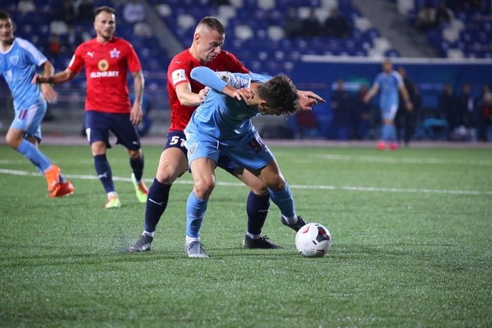 Игра шла до первого гола: «СКА-Хабаровск» уступил подмосковному «Велесу» со счетом 0:1. Фото ФК «Велес»
