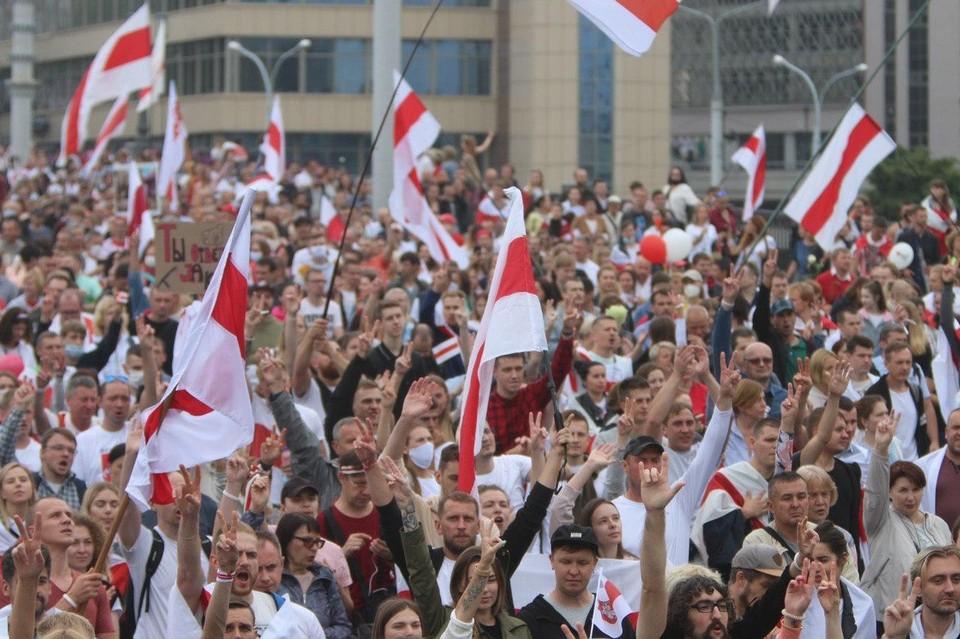 5000 человек вышли на марши протеста в Белоруссии за минувшие сутки