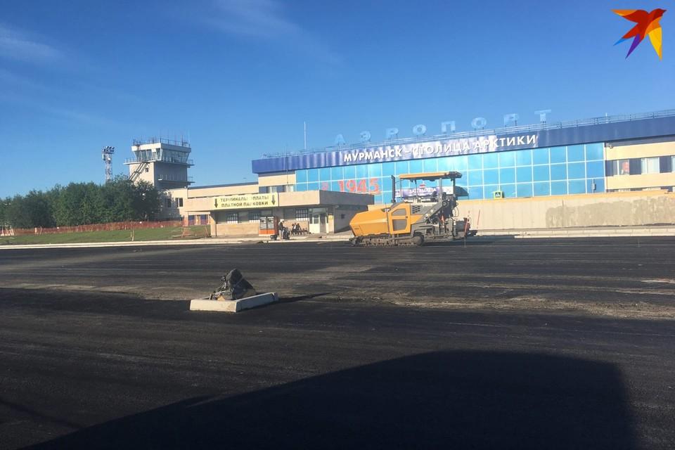 """Реконструкция привокзальной площади аэропорта """"Мурманск"""" подходит к концу."""