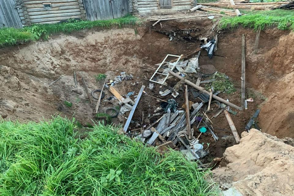 В результате обрушения никто не пострадал. Фото: Госпожнадзор г. Вятские Поляны
