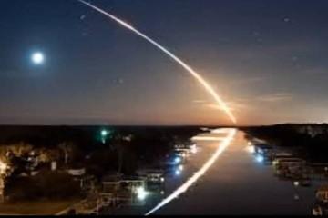 Метеорит пронесся над Европой и вернулся обратно в космос