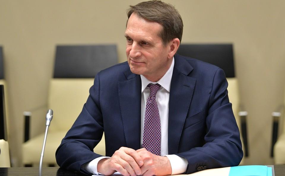 США используют самые нечистоплотные методы для раскачивания ситуации в Белоруссии, заявил Нарышкин