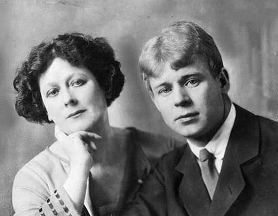 Айседора Дункан с Сергеем Есениным.