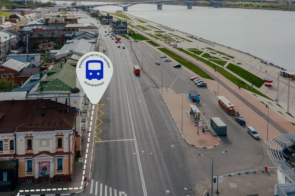 Остановку «Речной вокзал» временно перенесли с площади Маркина