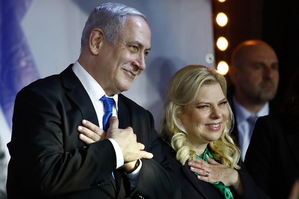 Биньямин Нетаньяху с супругой Сарой.