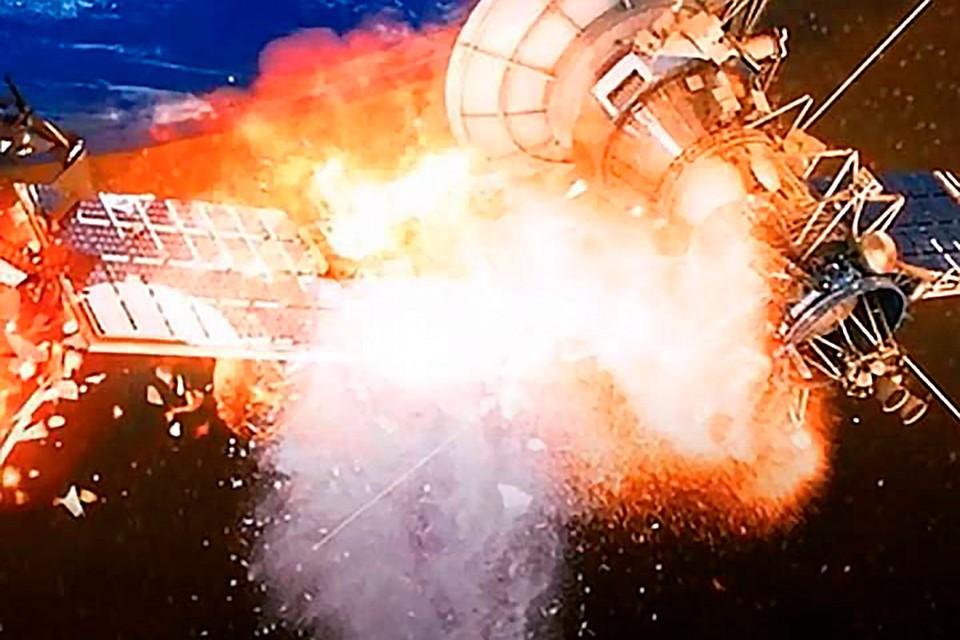 Взрыв в космосе пополнил бы число мусорных объектов на околоземной свалке.