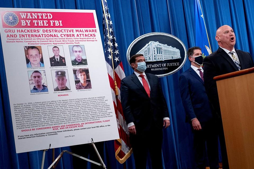 """Шестерых российских """"хакеров из ГРУ"""" обвинили в США в серьезных киберпреступлениях."""