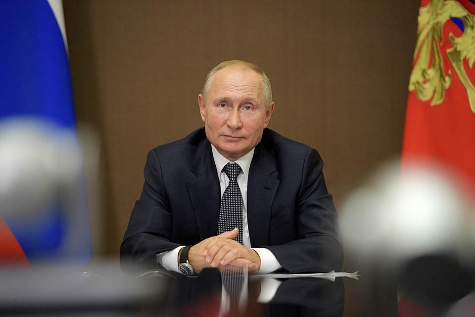 Владимир Путин выступит на пленарном заседании по видеосвязи