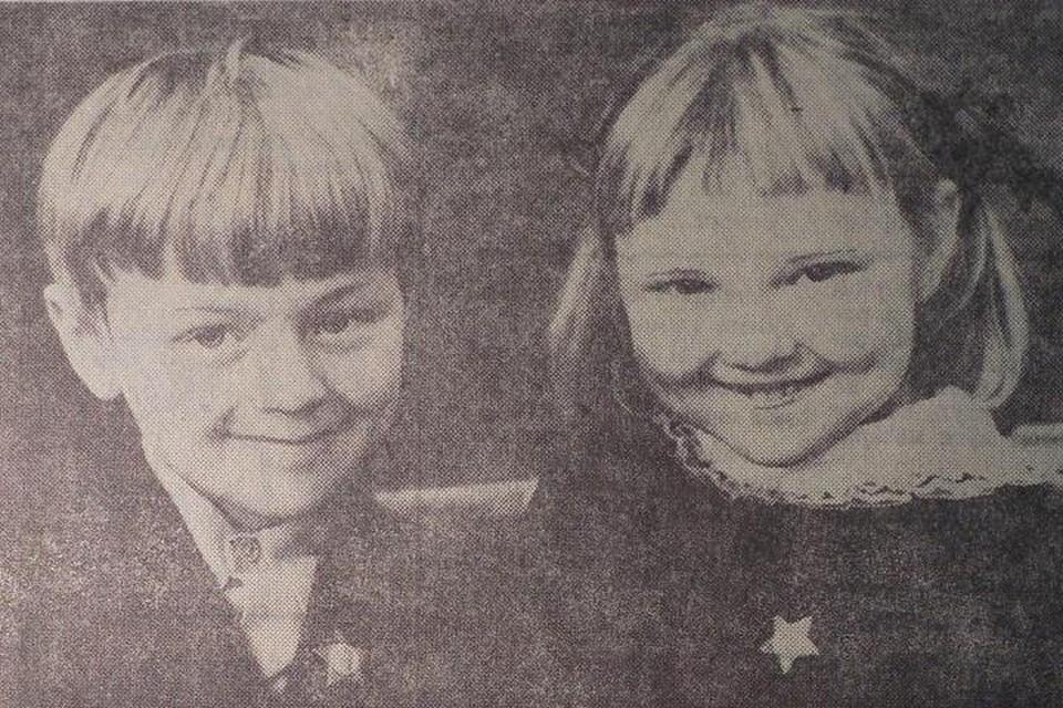 1977 год. Юра Любезников и Оля Грицененко в первом классе.