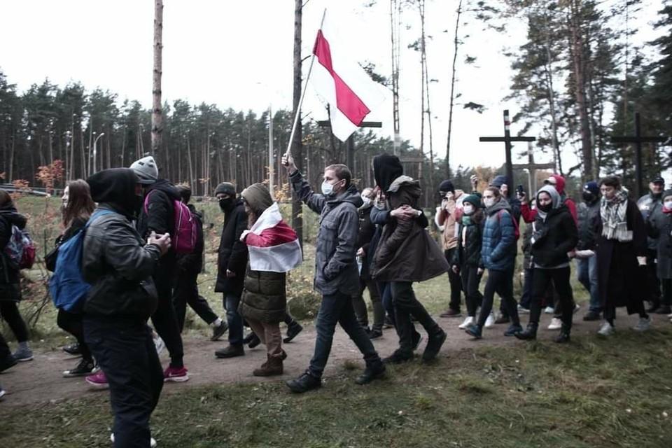 Во время протестной акции в Минске 1 ноября. Фото: Иван ИВАНОВ