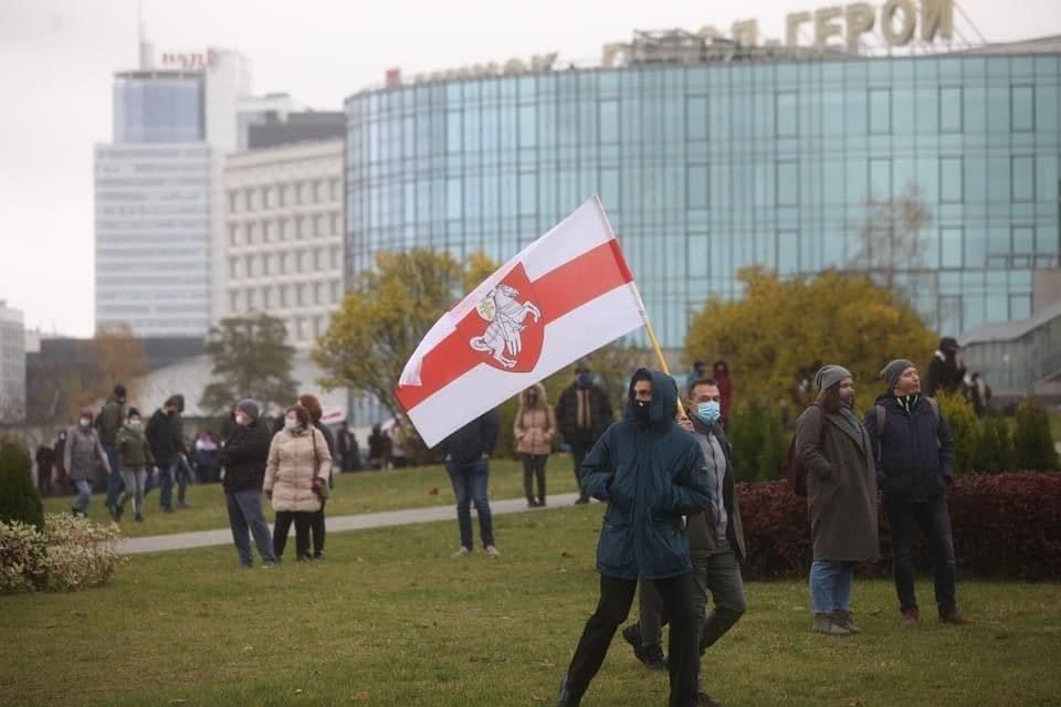 Белорусские протестующие выходят на марши каждое воскресенье. Фото: Иван ИВАНОВ