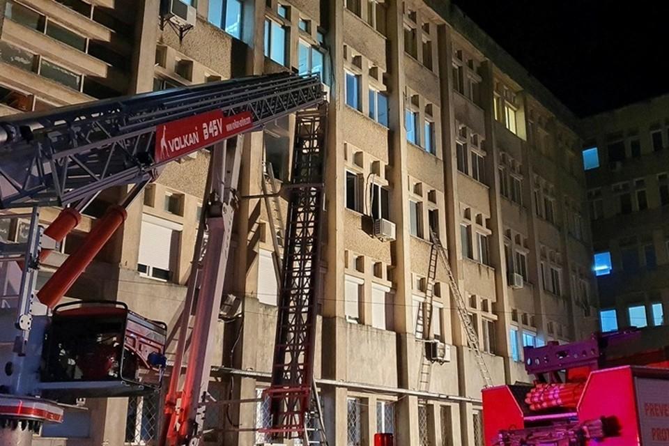 Пожар вспыхнул в отделении интенсивной терапии в больнице румынского города Пьятра-Нямц
