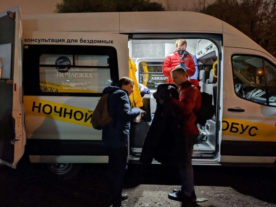 """""""Ночной автобус"""" - проект благотворительной организации """"Ночлежка"""". Фото предоставлено фондом"""