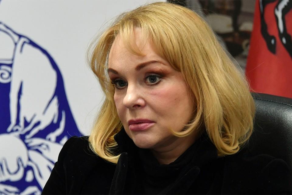 Ирина Цывина на пресс-конференции, 2017 г.