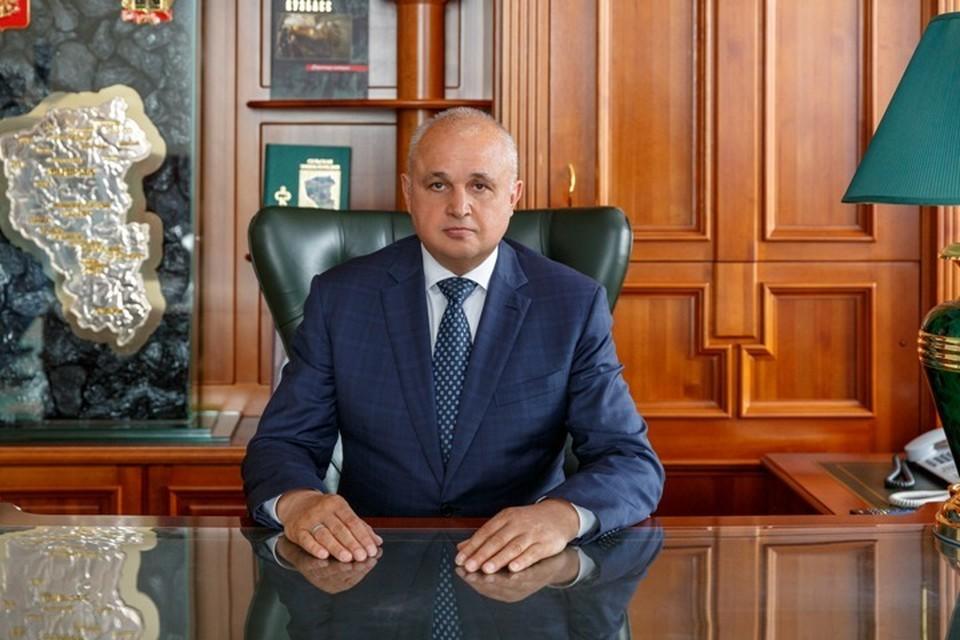 Сергей Цивилев рассказал об ужесточении карантинных мер в Кузбассе. Фото: Пресс-служба АПК