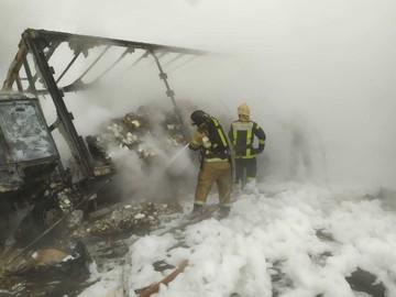 ДТП с бензовозом во Владимирской области: один из грузовиков загорелся
