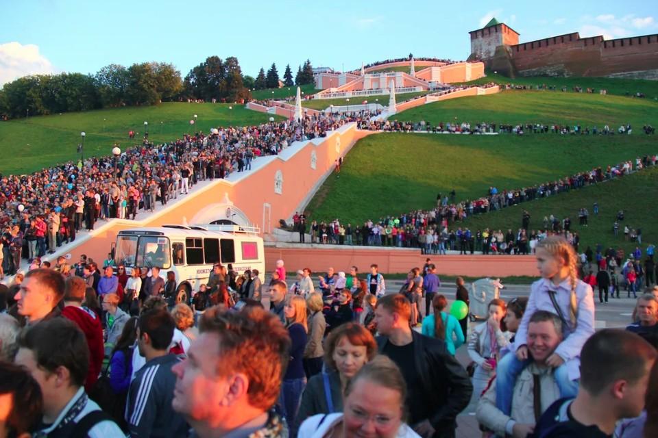 Чкаловская лестница в Нижнем Новгороде восстановлена на 70%
