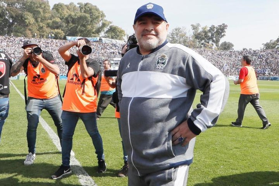 Диего Марадона в последнее время работал тренером клуба «Химнасия»
