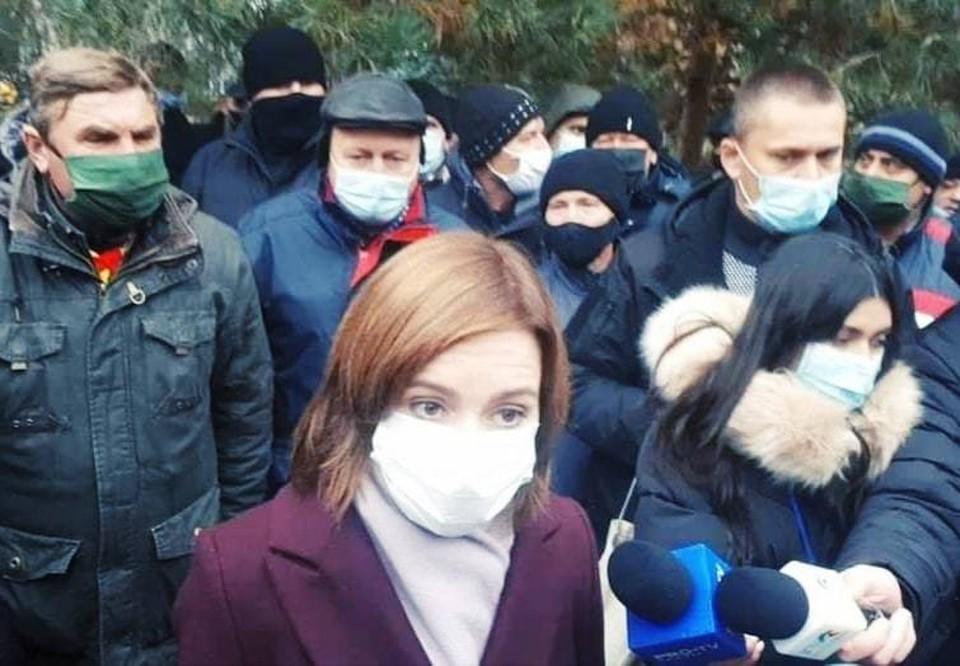 Майя Санду позвала всех на акцию протеста в разгар пандемии коронавируса.