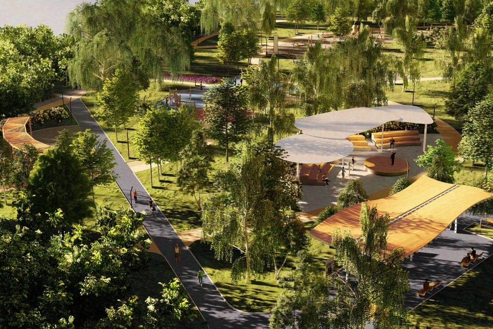 """В Красногвардейском районе появится новое общественное пространство. Фото: """"Проектные решения"""""""